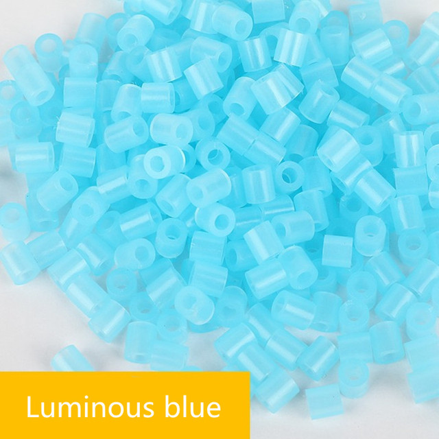 500pcs/bag 5mm Luminous Hama Beads 3D Puzzle Toys for Children 7 Colors Perler Beads Jigsaw Puzzle Educational Toys Juguetes