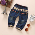 1-4T High Quality Baby Clothing Boys Girls Jeans Pants Soft Denim Kawaii Embroidery Kids Clothes Toddler Pants Bebe Jeans