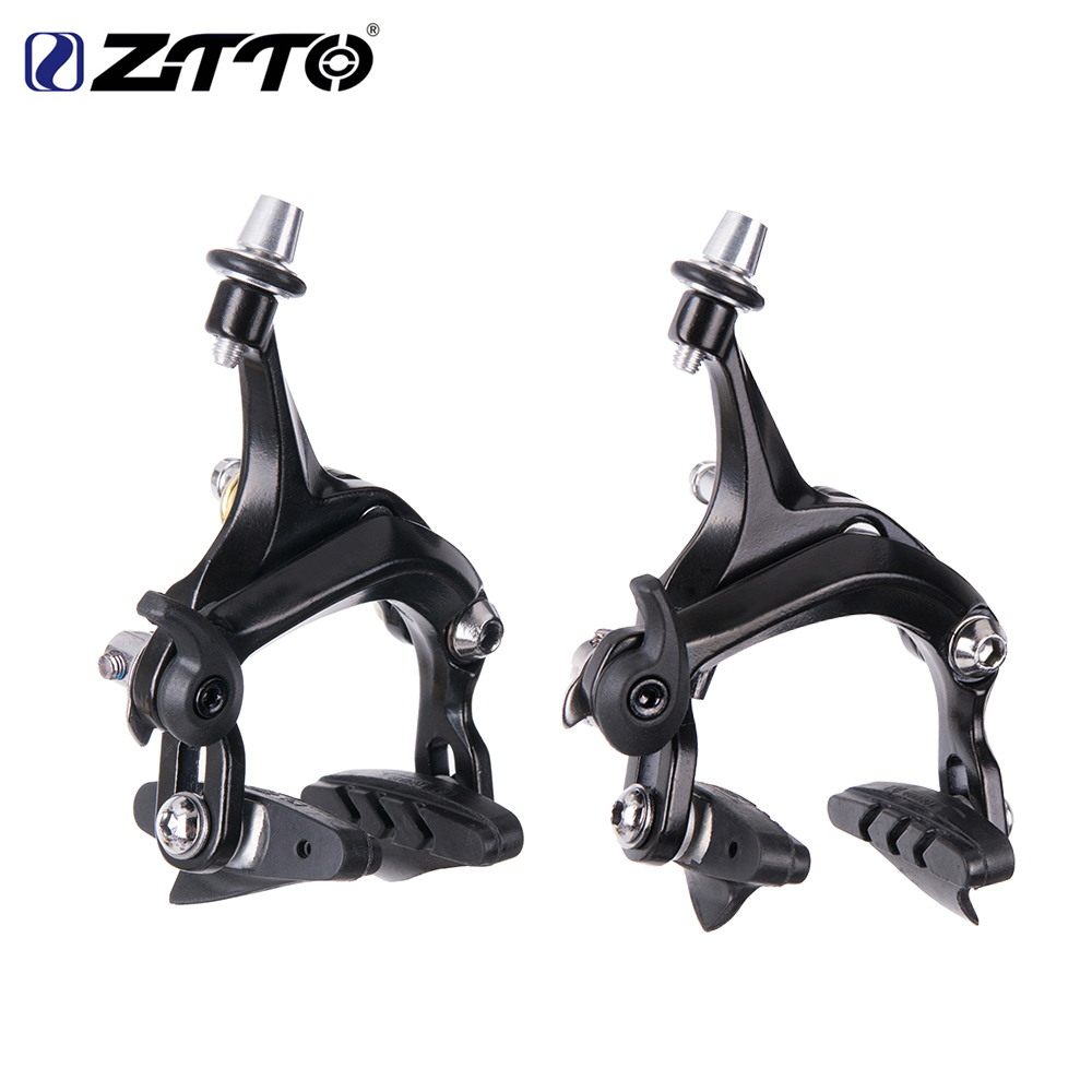купить ZTTO 1 Set Bicycle Brake Racing Road bike Dual Pivot brake Aluminum Side Pull Caliper Front & Rear with brake pads по цене 1174.53 рублей