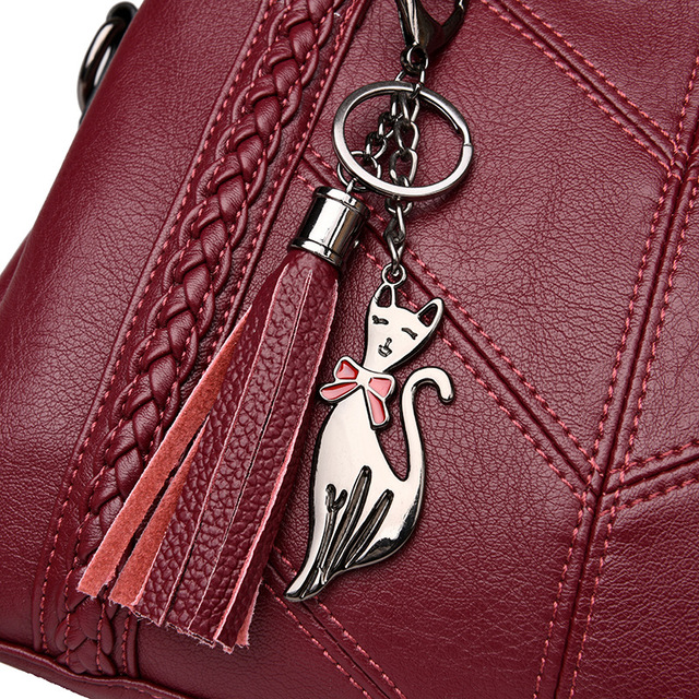Women Handbag Genuine Leather Tote Bags Tassel Luxury Women Shoulder Bags Ladies Leather Handbags Women Fashion Bags 2018 5