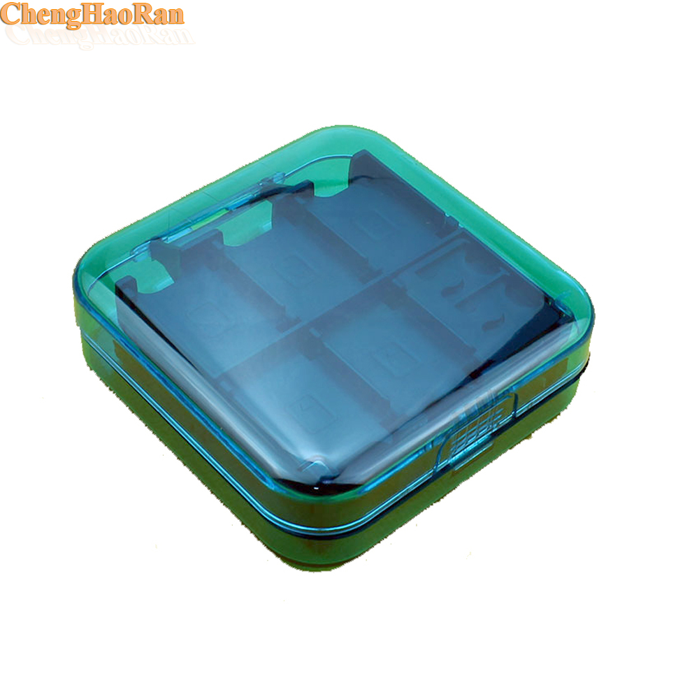 ChengHaoRan 12pcs 24 in 1 Extended Card Slot Protective Case Box For NS Switch Nintend NS NX Game Console Momery Holder