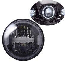 """7 Inch Reflector Led Koplamp Voor Motorfiets 7 """"Witte Drl Amber Richtingaanwijzer Koplampen Voor Jeep Suzuki Samurai"""