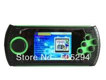 """Бесплатная отправка 2.8 """"ЖК-дисплей классический Sega Аркады Окончательный портативный плеер-100 игр предварительно с Супер Марио мира и Sonic-черный + зеленый"""