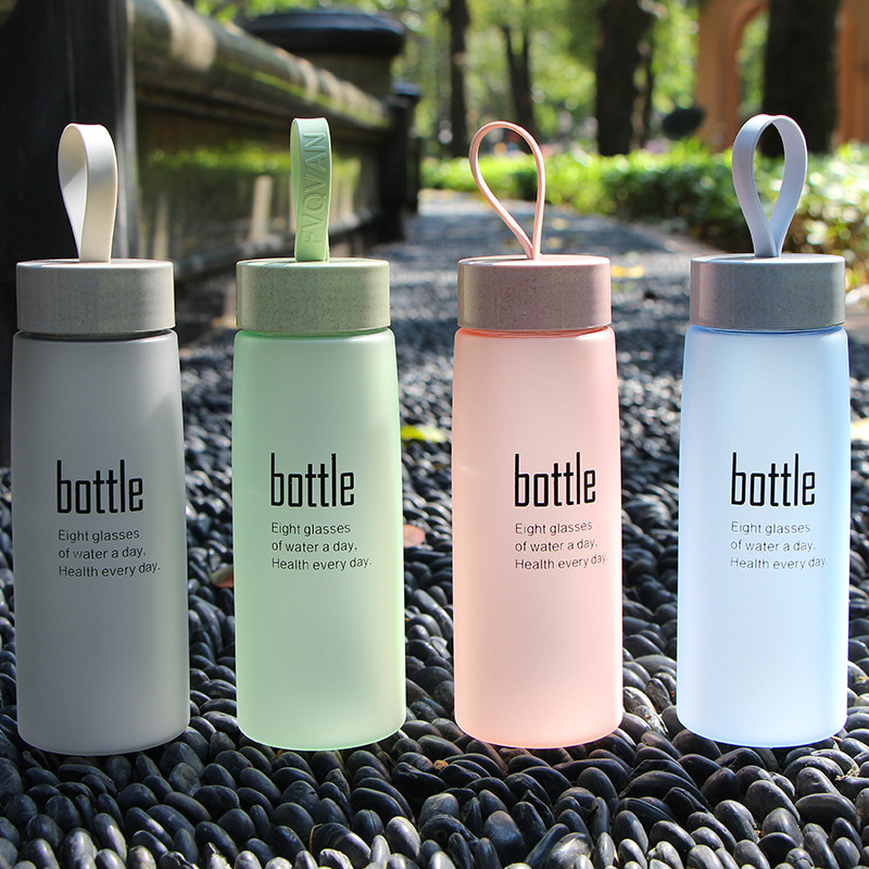 Portable Fashion Drinkware Tour Bottles for Lovers Water Bottle Plastic Sport Scrub Leak Proof Drinking My Bottle BPA Free