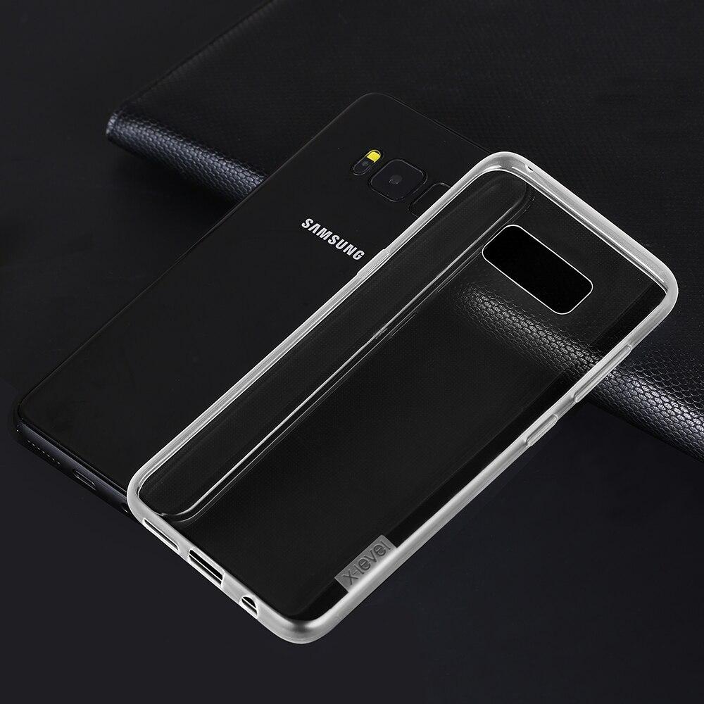 <font><b>2017</b></font> X-уровень Новых Высокое качество ТПУ antislip сотовый телефон чехол для Samaung Galaxy S8 мягкий чехол для Samaung Galaxy S8 чехол