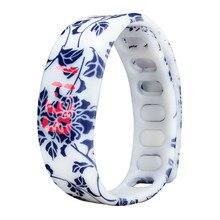 Paradise 2016 Womens Mens Rubber LED Watch Date Sports Bracelet Digital Wrist Watch Free Shipping Apr08