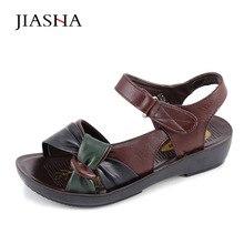 Женские босоножки Обувь 2017 Летняя обувь из искусственной кожи на плоской подошве смешанные цвета моды мягкой кожи женская обувь