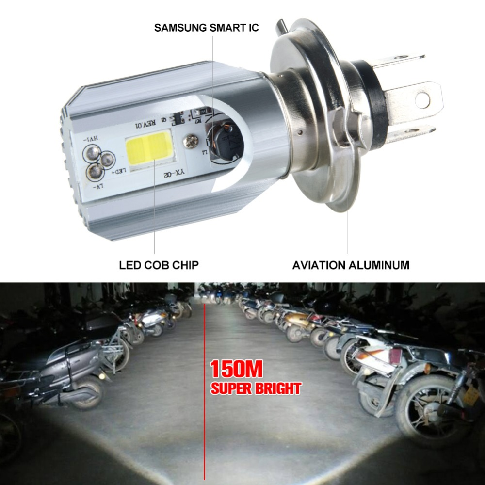 1pc Super brightHeadlight Bulb LED Motorcycle12V H4 FO