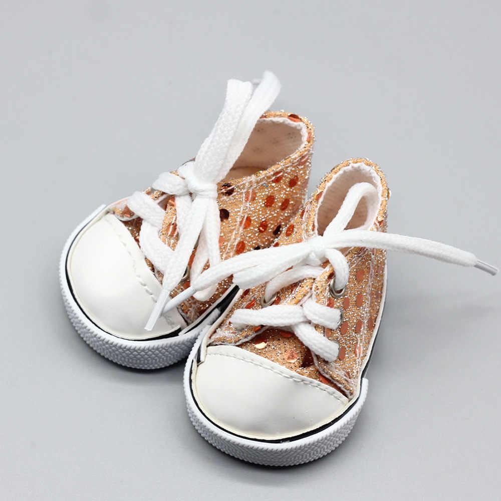 7cm Mini muñeca Sneackers para 43CM renacida nueva muñeca zapatos deportivos para 18 pulgadas muñeca 7cm botas de juguete accesorios para muñecas