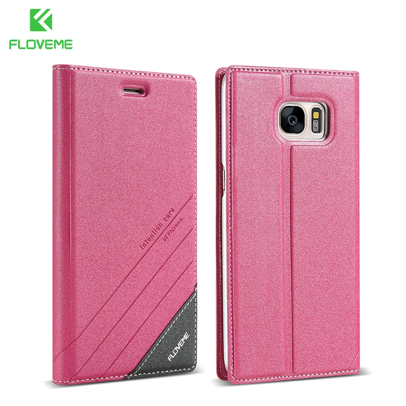 FLOVEME S7edge Flip Case Luxury Leather High Quality Holster For Samsung Galaxy S7edge Cover Phone Bags