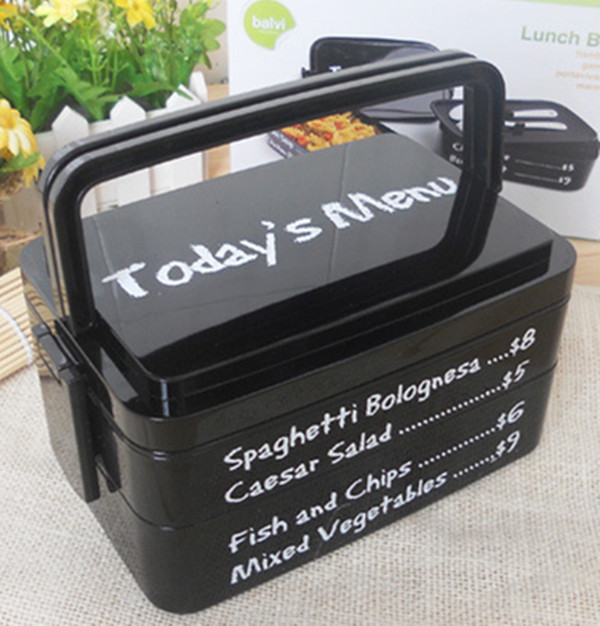 top quality bento lunch box 3 layers bento box with spoon fork portable handle bento container. Black Bedroom Furniture Sets. Home Design Ideas