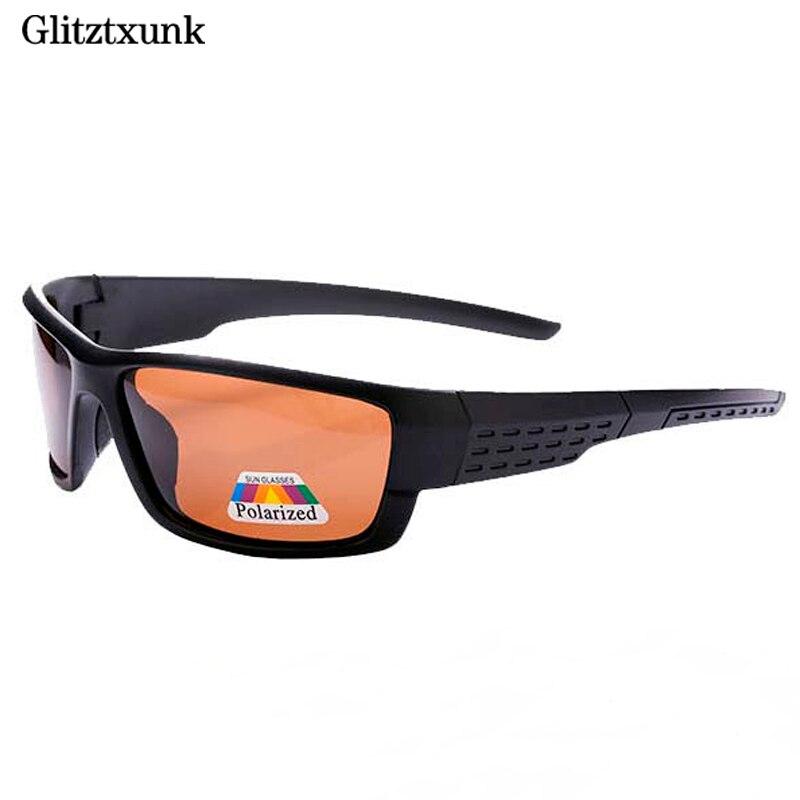 Glitztxunk Polarized Sunglasses Men Brand Designer Square Sports Sun Glasses for Men Driving Black Frame Goggle UV400 okulary in Men 39 s Sunglasses from Apparel Accessories