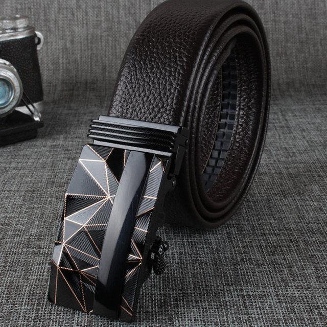 Mens cinturones de lujo 2016 de la alta calidad Ceinture Homme diseñador cuero genuino de la hebilla automática hombres cinturón