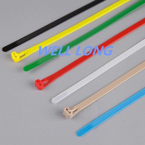 500 pcs lote 8150mm abracadeiras de nylon cor