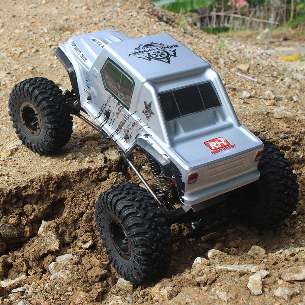 Remo 1071-SJ 1/10 2.4 GHz 550 Escovado Carro RC Off-road Truck Rock Crawler RTR Veículos Brinquedos Do Carro Automático para o Presente Das Crianças