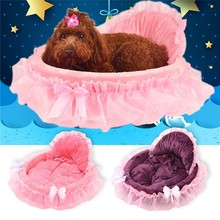 Luxury Lace Princess Dog Bed Cat Litter Puppy Nest Mat Soft Doggy Cushion Teddy Pet Beds For Small Medium Dogs Cat Sofa Kennel