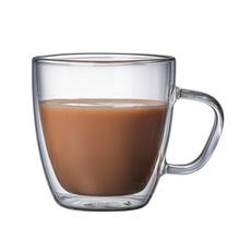 Wysoka borokrzemianowa szklanka do kawy przezroczysty kreatywny kubek tropikalny odporny napój piwo i kawa tanie tanio Szkło Ce ue ROUND Ekologiczne