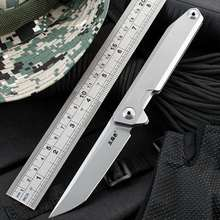 New Sanrenmu 1161/1162 Pocket Folding Blade Knife 14C28N Blade Ball Bearing Flipper Outdoor Camping Survival Hunting EDC Tool