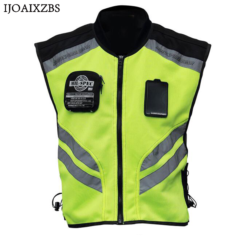 Motorcycle Reflective Vest Riding Tribe New Clothing Street Road Protector Motocross Body Armour Protection Jackets Vest Clothes cycling reflective clothing reflective vest safety clothing to road traffic motocross body armour protection jackets