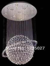 Мяч современная хрустальная люстра потолочный светильник глобальный кристалл кулон свет для лестницы, Конференц-зал 100% гарантия