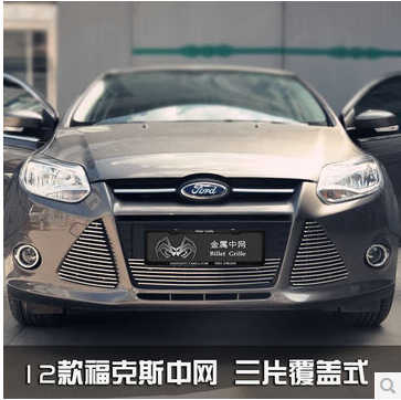 Stainless Steel Car Racing Grills For Ford Focus 2009-2013 Front Grill Grille Cover Trim Car styling racing grills version aluminum alloy car styling refit grille air intake grid radiator grill for kla k5 2012 14