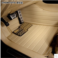 2015 New Special Floor Mats For Hyundai Santa Fe 2013 5seats Durable Waterproof Leather Carpets For