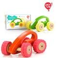 Lucy y Leo Niños juguetes Tire Hacia atrás coche Rolypoly Verde Naranja Aprender Educación Motor Del Coche Del Vehículo