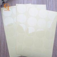 3 см прозрачный круглые наклейки, круг печать наклейки ПВХ, Бланк печать наклейки для конвертов или маленький подарок