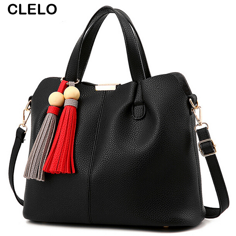 ФОТО CLELO Woman Bag Handbags Women Famous Brands Composite Bag ladies Bag Set Woman Shoulder Bag Bolsa Feminina