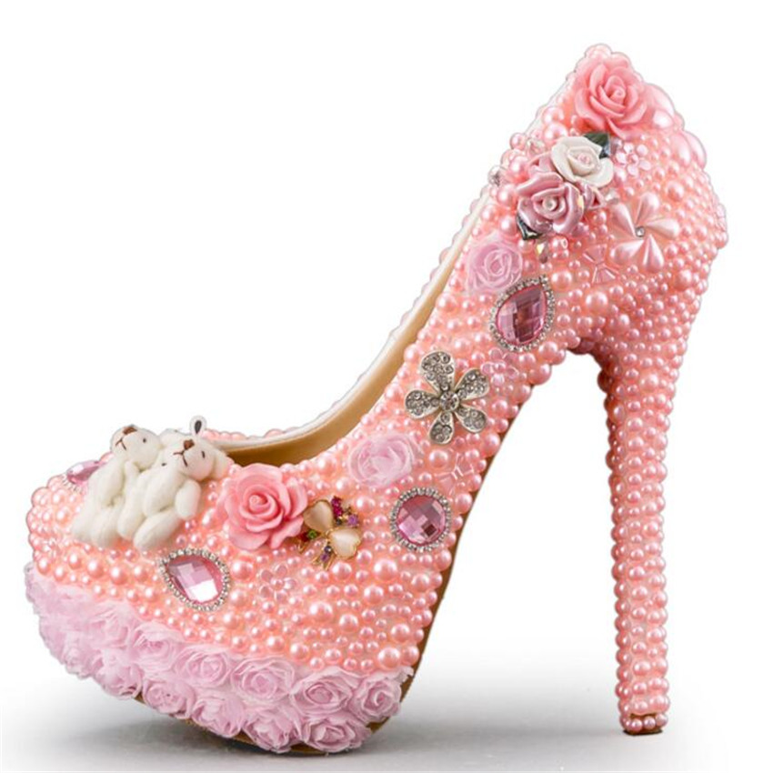 Pink Rhinestone Heels Promotion-Shop for Promotional Pink