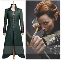 The Hobbit Tauriel Silvan Elves cosplay costume Movie costume for women fancy dress