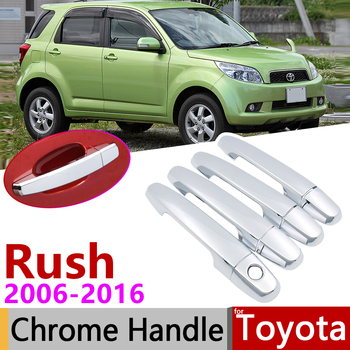 for Toyota Rush 2006~2016 Chrome Door Handle Cover Car Accessories Stickers Trim Set 2007 2009 2010 2011 2012 2013 2014 2015 image