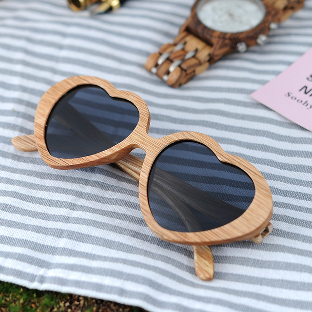 BOBO BIRD Wooden Handmade UV400 Polarized Women Sunglasses