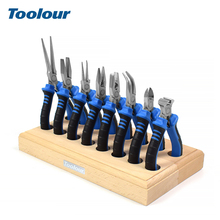 Toolour 8PC 4.5 Precision Pliers Set Mini Diagnoal Wire Cutting Long Nose Jewelry Making DIY Hand Tool Kit