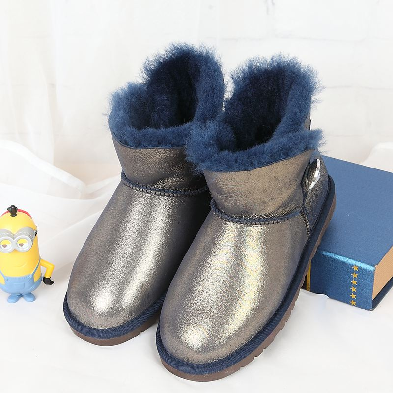Limited time promotion 100%2017 winter new high quality snow boots Australian natural sheep fur boots new time new time ci g1286