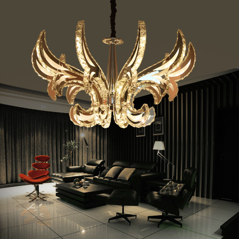 Ceiling Lights & Fans Popular Ring Led Crystal Pendant Lamp Modern Led Circles Hanging Lamp Foyer Dining Room Lighting Home Decoration
