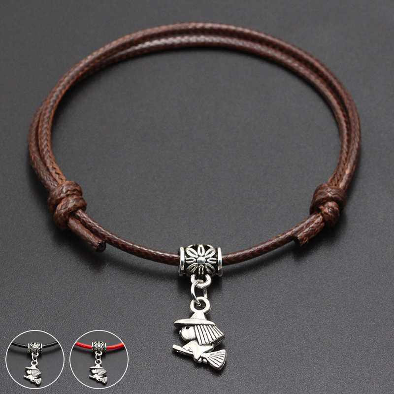 2020 New Cute Magician Pendant Red Thread String Bracelet Lucky Black Coffee Handmade Rope Bracelet for Women Men Jewelry