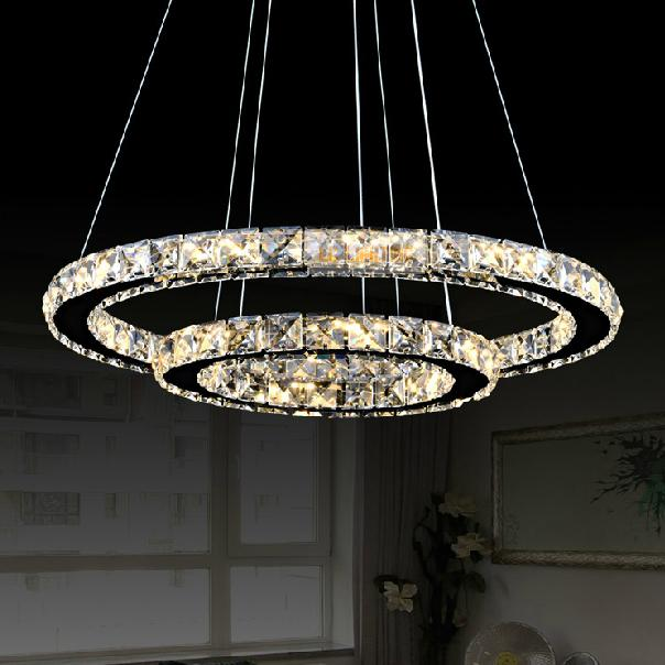 Modern ring crystal contemporary chandelier lustre cristal k9 high modern ring crystal contemporary chandelier lustre cristal k9 high ceiling chandeliers led pendant lamp kroonluchters bedroom in pendant lights from lights aloadofball Gallery