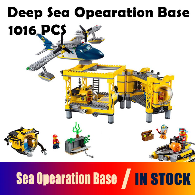 Model Building Blocks toys 02088 Deep Sea Opearation Base compatible with lego City Series 60096 Educational DIY toys & hobbies loz mini diamond block world famous architecture financial center swfc shangha china city nanoblock model brick educational toys