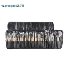 32PCS Makeup brush & tools set facial & eye shadow brushes for makeup wooden black makeup brashes for face brush cleansing