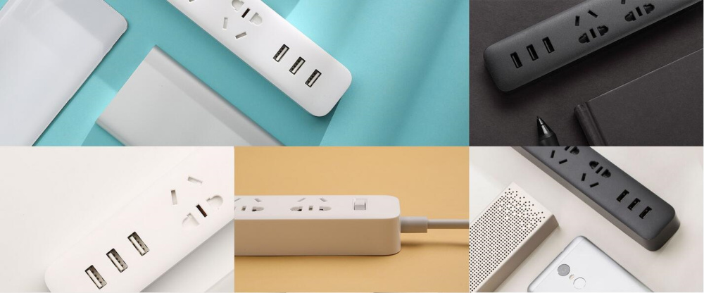 XiaoMi 3 USB Port Fast Charging 2.1A USB Smart Power Socket Power strip charger Portable Strip Plug Adapter For Phone H25 # (15)