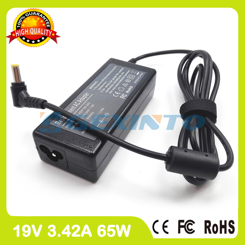 19V 3.42A 65W laptop charger ac adapter PA-1650-65 for asus L80 M2 M3 N43 N45 P24E P43 P450 PL30 Pro4G Pro45 R403 R411C