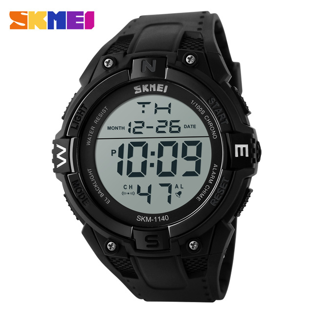 SKMEI Sport Watch Men LED Digital Wristwatches Waterpoof Outdoor Fashion Casual Military Army Men's Watches 1140