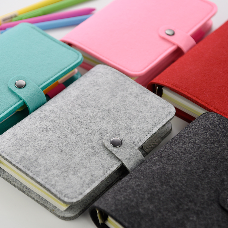 MR.BOOK Creative Handmade Notebook A5 Spiral Felt Notepad Lovely Stationery Diary Book 1PCS 2pcs japan kokuyo watanabe notepad spiral vertical notebook a5 60 sheets coil shorthand book wcn ctnb610