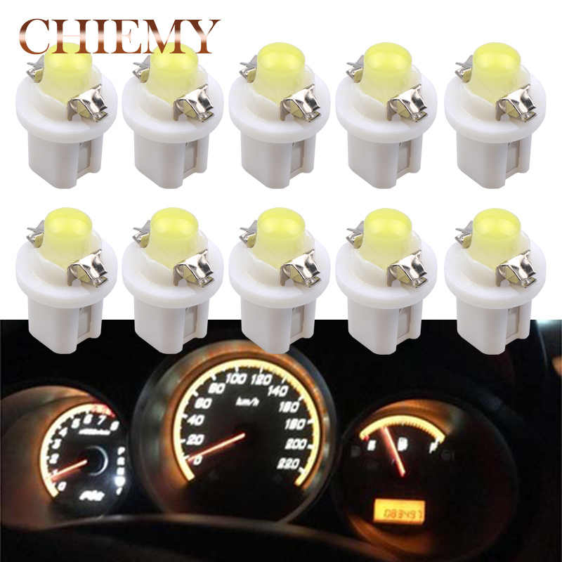 10 piece T5 B8.5 B8.5D Car Auto LED Indiator Gauge Lights Interior Dashboard Dash Side Lamp DC12V Red White Blue Signal Bulb