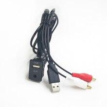 Biurlink 150 см/100 см DIY Удлинительный адаптер автомобильный удлинитель RCA USB адаптер USB/AUX панель для Toyota Mitsubishi Nissan