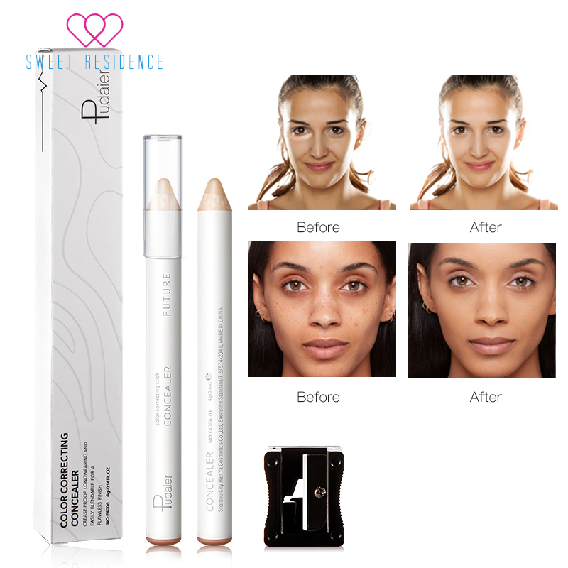 Pudaier 8 Color Correcting Concealer Stick Face Lip Foundation Makeup Full Cover Pen Long Lasting Dark Eye Circle Hide