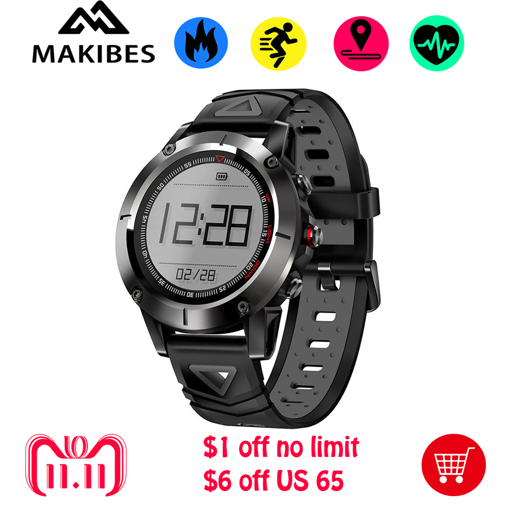 Makibes K6 Smartwatch Men Built-in GPS IP68 Waterproof Heart Rate Monitor Fitness Tracker Compass Multi-Sports Mode Sports Watch makibes br2 smart watch men gps smartwatches electronic compass heart rate monitor multi sport dynamic optical sports watch