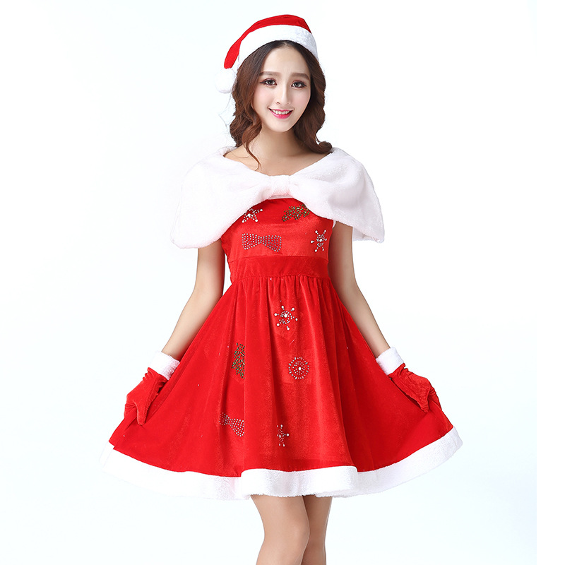 2018 New Arrival Christmas  Acting Dress Women Costume Cosplay for Christmas Party Clothes Sexy Charming One-Piece Dress Girls