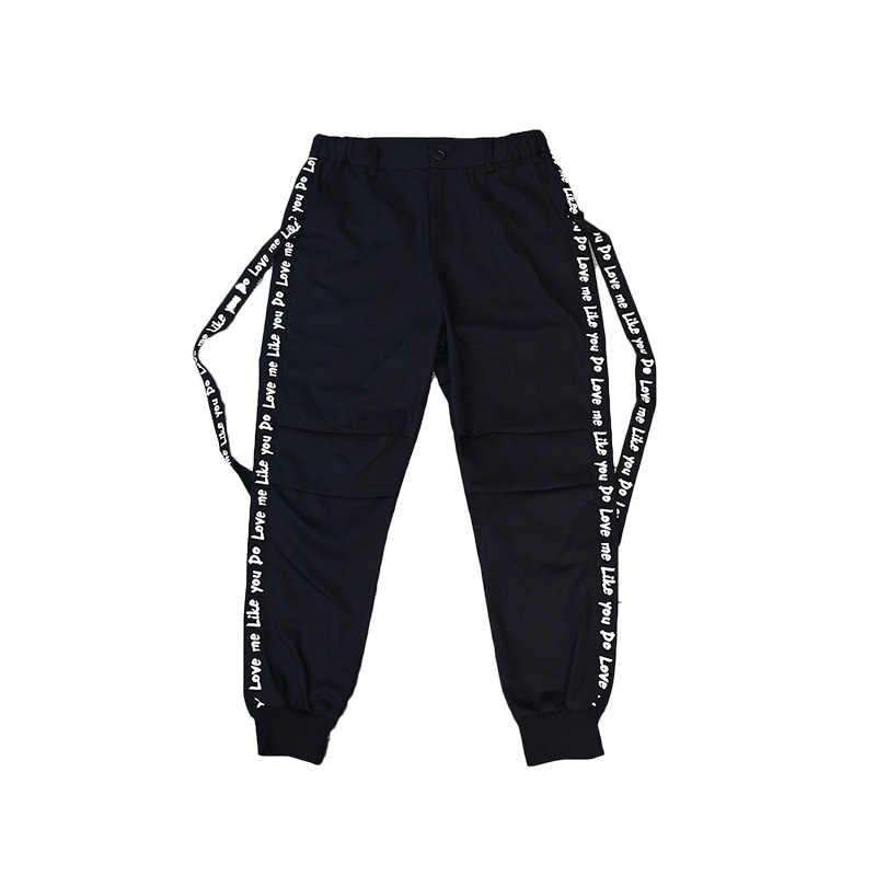Una Reta мужские брюки 2018 новые уличные модные повседневные съемные Ленточные брюки мужские брендовые уличные брюки в стиле хип-хоп